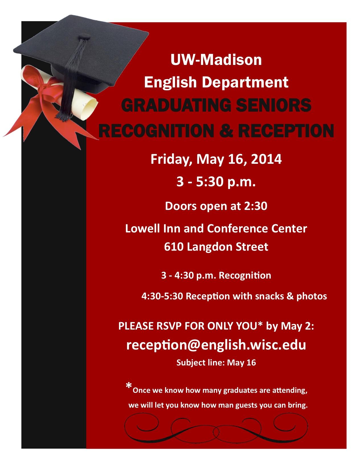 Graduating Seniors Reception - May 16, 2014